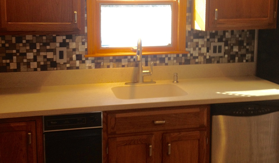 Kitchen counter-top and sink